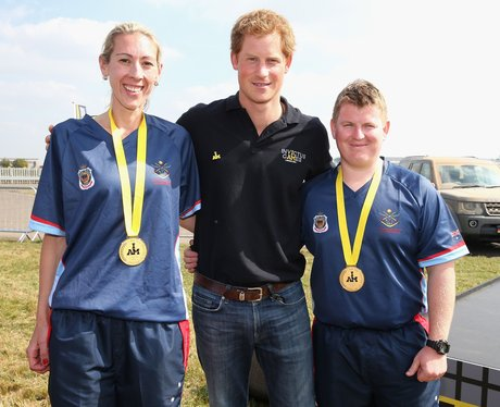 Prince Harry and athletes