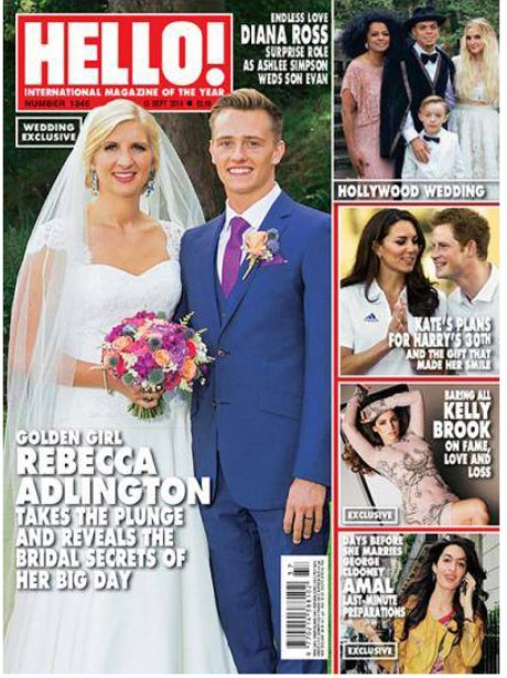 Rebecca Adlington wedding coverage Hello Magazine