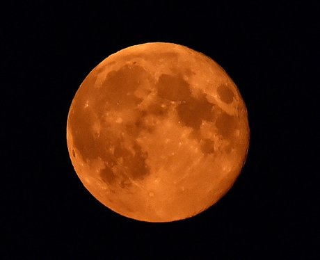 The orange Harvest Moon