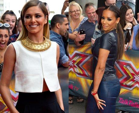X Factor Cheryl Fernandez Versini and Mel B