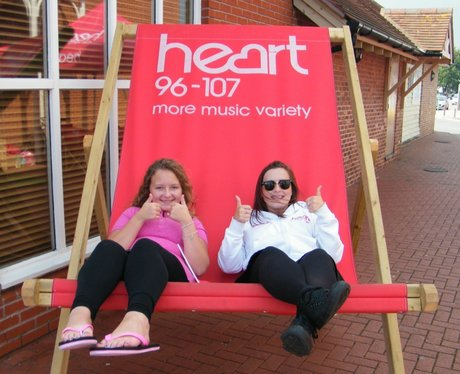 The Heart Angels took their giant deckchair down t