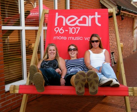 The Heart Angels took their giant deckchair down t