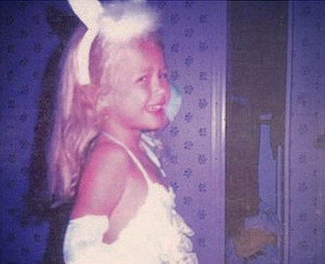 little girl dressed like a bunny