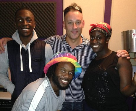 Toby Anstis with some kids