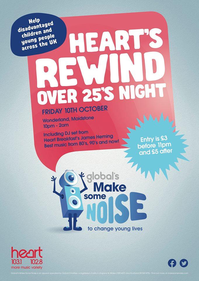 Heart's Rewind Over 25s Night