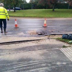 Addenbrooke's Burst Water Main