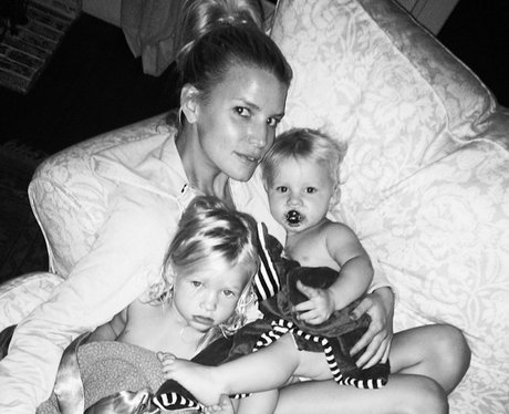 Jessica Simpson with Maxwell and Ace