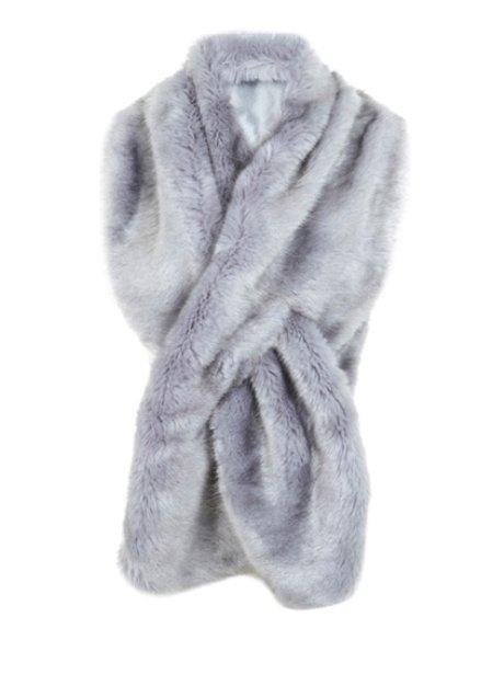 Miss Selfridge Faux Fur Stole, £35