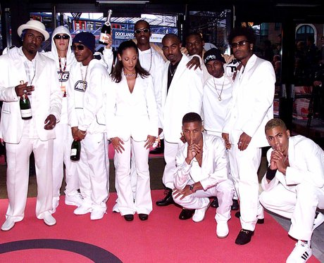 So Solid Crew in white tuxedos