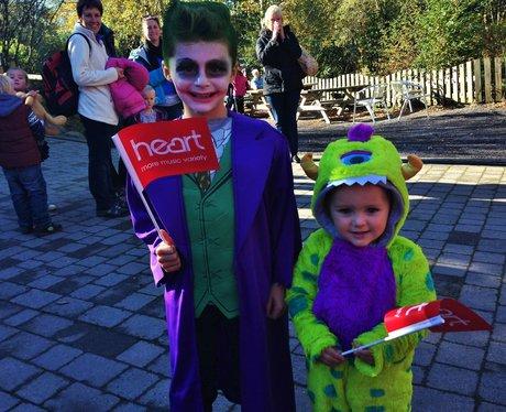 2 little boys in Halloween fancy dress