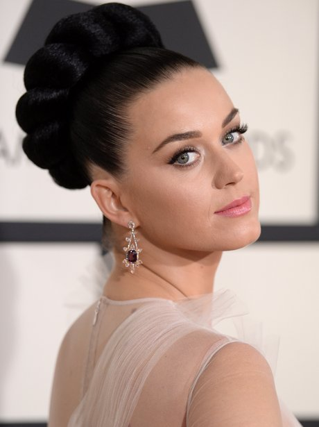 Katy Perry in a white gown