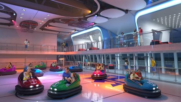 Quantum of the Seas bumper cars