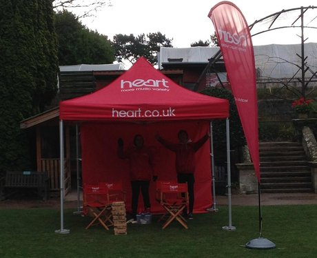 heart tent set up