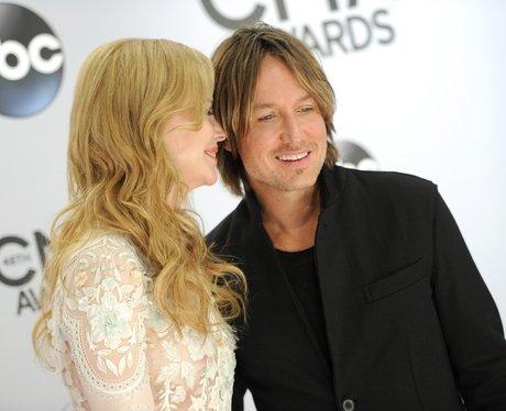 Nicole Kidman smiling at her husband