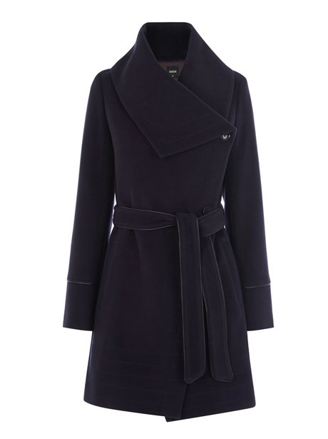 Oasis Stitch Detail Formal Drape Coat