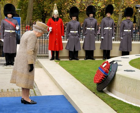 Queen Elizabeth pays her respects
