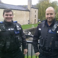 PCSOs Ashley Bintcliffe and Mike Symonds