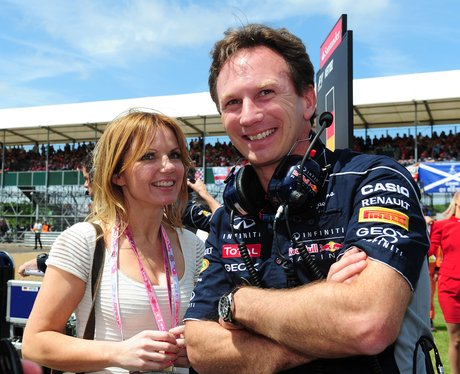 Geri Halliwell and Christian Horner at the British Grand Prix