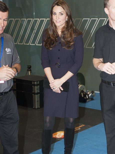 Kate Middleton Duchess of Cambridge visits SportsA