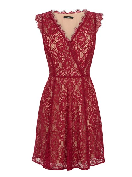red lace oasis dress