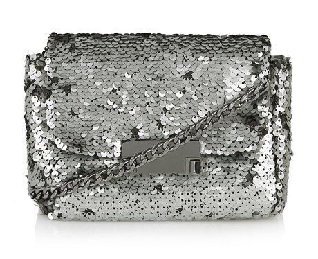 Topshop Embellished Metal Crossbody Bag