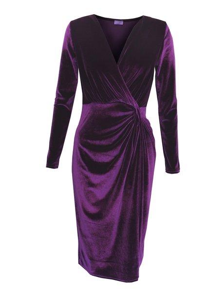 Ingenue London Purple Velvet Dress