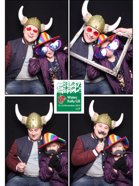 family in photobooth