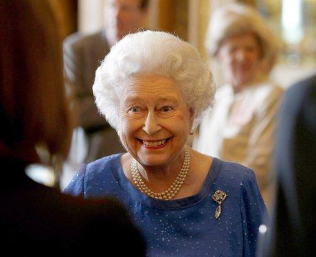 Queen Elizabeth II smiling