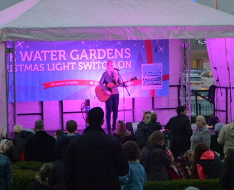 Harlow Water Gardens Christmas Lights Switch On (2
