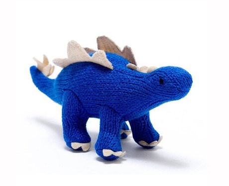 Little Baby Company Knitted Dinosaur Rattle