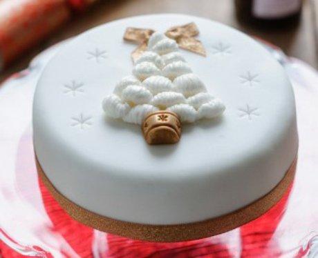 Morrisons Iced Christmas Cake