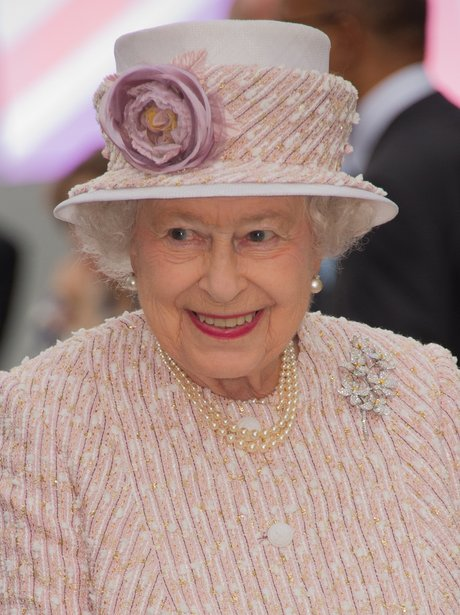 The Queen wearing pink