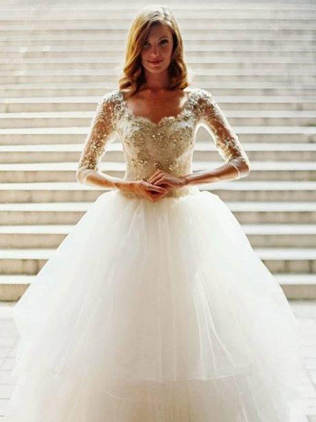 A bride in a wedding dress