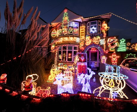 how many christmas decorations can you fit in one front garden an awful lot by the looks of things - Best Christmas Decorations Uk