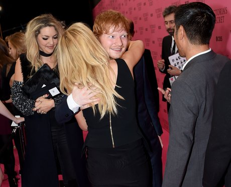 Ellie Goulding and Ed Sheeran Hugging