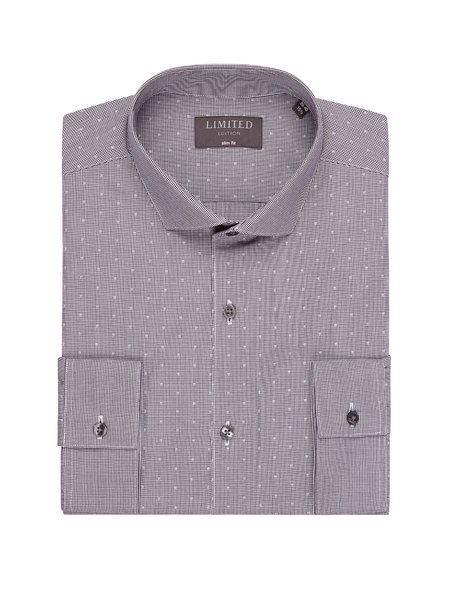 M&S Slim Fit Spotted Shirt
