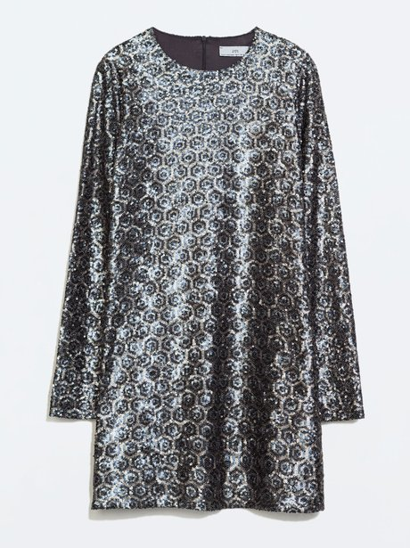 Zara Sparkly Sequin Dress 163 59 Luxe For Less Glam
