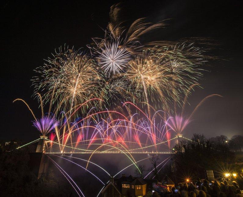 Fireworks Clifton Suspension Bridge