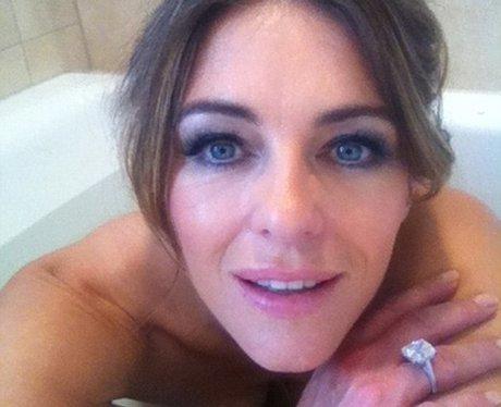 Liz Hurley bath selfie