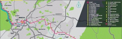 Bristol to Bath Marathon route 2015