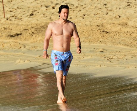 Mark Wahlberg on the beach