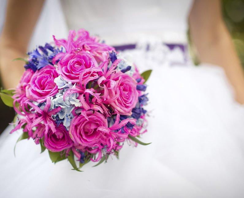 floral wedding bunch
