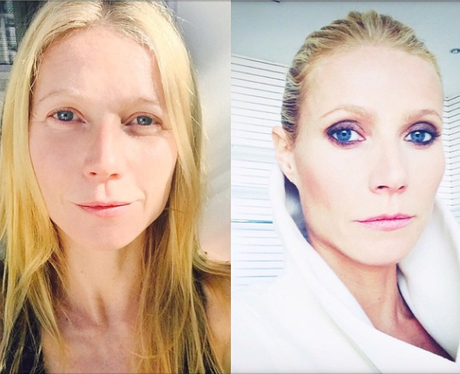 Gwyneth Paltrow before and after makeup