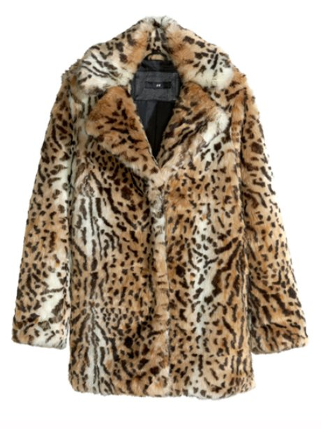 H&M Faux Fur Jacket, £30