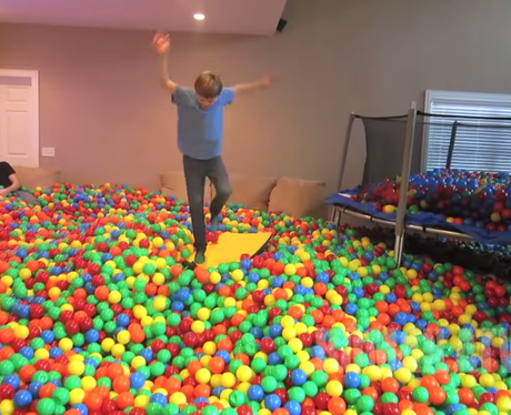 A house full of colourful balls