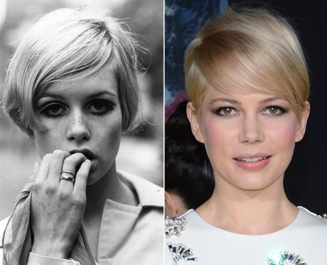 Twiggy and Michelle Williams