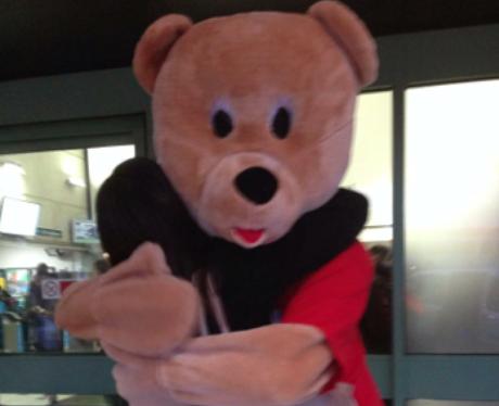 Heart Teddy Bear giving a proper Teddy Bear hug!