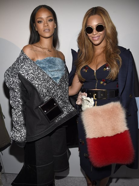 Besties? Rihanna and Beyonce pose together at Kanye West's ...