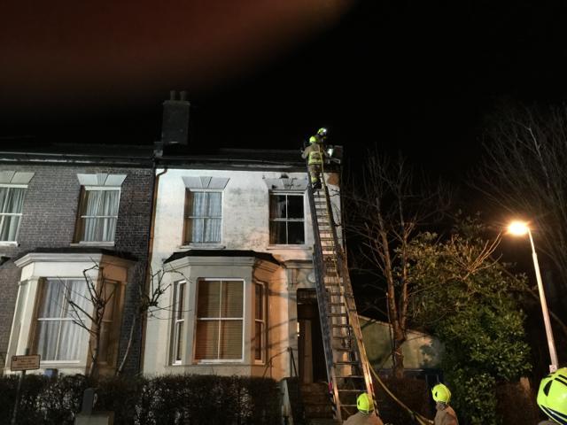 EastEnders Set Fire