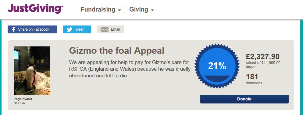 More than £2000 has been raised already.
